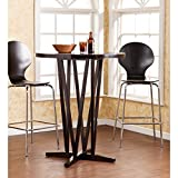 "Product review for Southern Enterprises Devon 43"" Bar Table, Dark Espresso Finish with Grain Patterns"