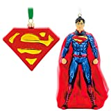 Hallmark Superman and Logo Set of Two Christmas Ornament