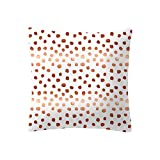 Rose Gold Pink Cushion Cover Square Pillowcase Home Decoration Covers Pillow Slip Car Sofa Home Pillowcases Hidden Zipper No Insert Brief Decor Couch Sofa Geometric Prints,45X45Cm(G)