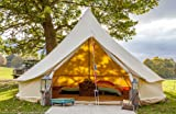 Bell Tent 5 metre with zipped in groundsheet by Bell Tent Boutique