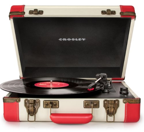 Crosley CR6019A-RE Executive Portable USB Turntable, Red
