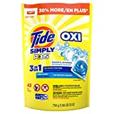 Tide Simply Clean & Fresh PODS Liquid Detergent Pacs, Refreshing Breeze Scent, 43 Count (Packaging May Vary)