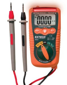 Extech DM220 CAT IV Mini Pocket MultiMeter with Non-Contact Voltage Detector