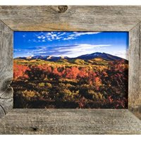 "MyBarnWoodFrames - Reclaimed Weathered 8.5x11"" Easelback Barnwood Picture Frame, 2 Inch Wide Frame"