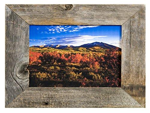 MyBarnWoodFrames-Reclaimed-Weathered-85x11-Easelback-Barnwood-Picture-Frame-2-Inch-Wide-Frame