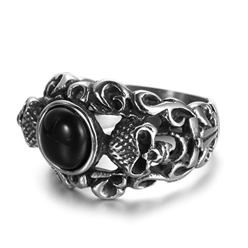 Dead Head Skull Stainless Steel Ring