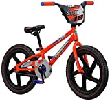 Mongoose Stun Kid's Freestyle BMX Bike with Kickstand, 18-Inch Wheels, Orange