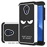 Alcatel 1X Evolve Case, Alcatel TCL LX Case, LEEGU Shock Absorption Dual Layer Heavy Duty Protective Silicone Plastic Cover Rugged Phone Cases for Alcatel IdealXtra 2018 - Don't Touch My Phone