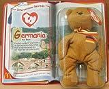 1 X TY Teenie Beanie Babies Germania the Bear Stuffed Animal Plush Toy