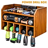 Drill Charging Station | Drill Storage | Wall Mounted Cordless Drill Organizer | Power Tool Storage - Power Drill Toolbox Screwdriver Cordless Drill Organizer - Tool, Parts Craft Organizer