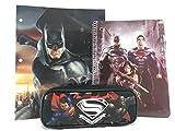 Batman v Superman Pencil Holder, Note Pad & School Folder Set (STYLE MAY VARY)