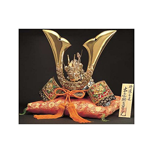 [Premium] Japanese Samurai Kabuto helmet - Dragon & Tiger - with cushion, box, tag - Japan import [Standard ship by EMS with Tracking number & Insurance]