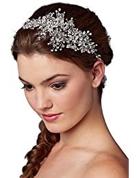 Couture Crystal Spray Bridal Headpiece Hair Vine - Wedding Hairband Glam