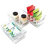 Product review for mDesign Kitchen Storage Bins, Storage for Fridge, Freezer, Pantry (Set of 3) - Clear