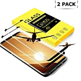 tengsu Screen Protector for Galaxy S8 Plus (2-Pack), [Care Fridendly] [3D Touch Compatible] HD Clear and Bubble-Free Tempered Glass Screen Protectors