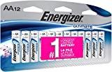 Energizer AA Lithium Batteries, Ultimate Lithium Double A Battery, (12 Count)