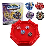 Bey Battle Burst Battling Top Metal Fusion Starter Battle Evolution Attack Set with Launchers and Arena Included