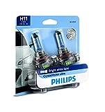 Philips H11 CrystalVision Ultra Upgrade Bright White Headlight Bulb, 2 Pack