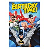 Justice League Birthday Card Batman Superman Flash Green Lantern