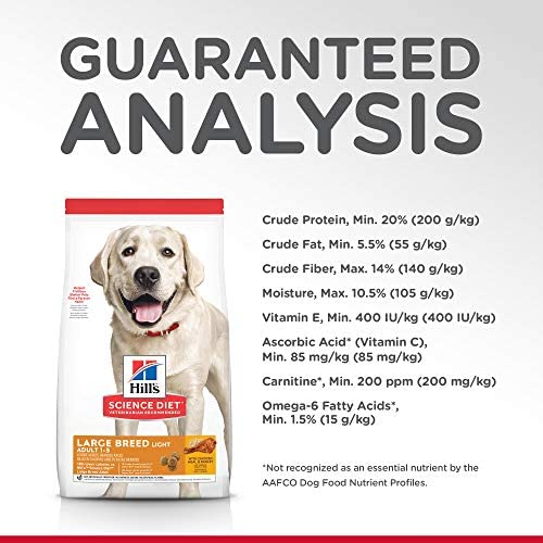 Hill's Science Diet Dry Dog Food, Adult, Large Breed, Light for Weight Management, Chicken Meal & Barley Recipe 9