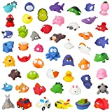 Liberty Imports Water Bath Squirties - Fun Floating Squeeze and Squirt Bathtub Squirters - Ideal Toys for Kids, Babies, Toddlers Bathtime (50 Piece Assortment)