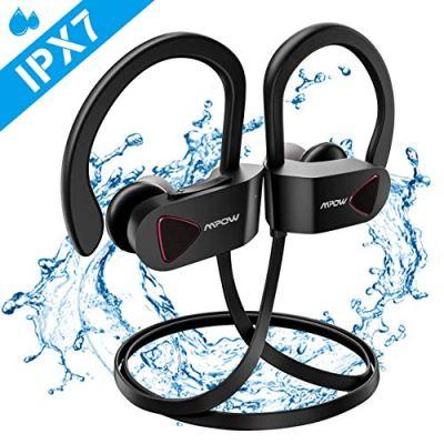 Mpow Cuffie Bluetooth D1, Cuffie Bluetooth V4.1 Impermeabili IPX7, Auricolari Sportivi Wireless A2DP, Auricolari Stereo Hi-Fi con Microfono da 10 Ore di Riproduzione per iPhone, Samsung, Huawei, Sony