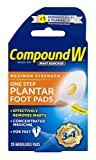 Compound W One Step Plantar Foot Pads | Salicylic Acid Wart Remover | 20 Pads | 2 Pack