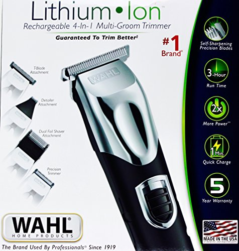 WAHL Lithium Ion Rechargeable 4-in-1 Multi-groom Trimmer Kit