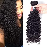 Amella Hair Brazilian Virgin Curly Hair 1 Bundle Brazilian Curly Virgin Hair Weave 8A 100% Unprocessed Brazilian Remy Human Hair Extensions Natural Color (16inch)