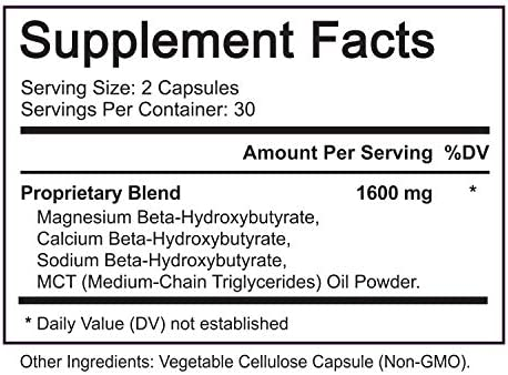 Ultra Fast Pure Keto Boost 1600mg - Advanced Clinically-researched Pure BHB Salts (beta hydroxybutyrate) with MCT Oil Keto Diet Pills - Best Ketosis Ketogenic Supplement - 60 Capsules; 30 Day Supply 4