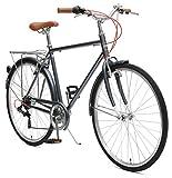Retrospec Critical Cycles Beaumont-7 Seven Speed Men's Urban City Commuter Bike; 50cm, Charcoal