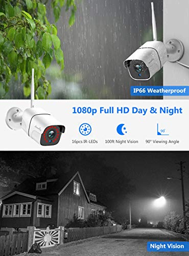 2-Way-Audio-Jecurity-Wireless-Security-Camera-System-with-1TB-Hard-Drive4Pcs-2MP-Cameras-1080P-8-Channel-NVROutdoor-IP66-WaterproofNight-VisionMotion-AlertH265-NVR724-Record