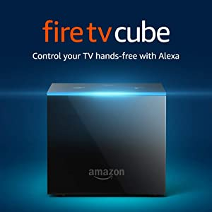 Certified Refurbished Fire TV Cube, hands-free with Alexa and 4K Ultra HD, streaming media player