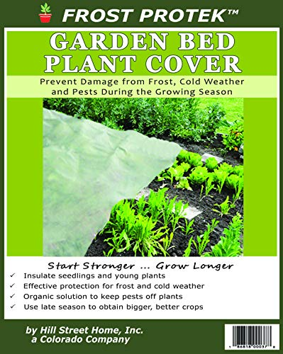 Frost Protek Floating Garden Bed Cover -10 feet by 15 feet -Garden Fabric for Protection and Insulation