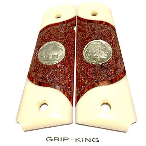 1911 GRIPS SALE $45 73 GENUINE U S  MINT BUFFALO NICKELS Fits Colt