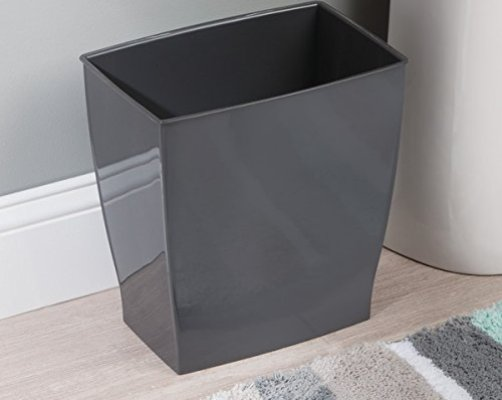 Top 10 best trash cans for bathroom best of 2018 reviews for Dark grey bathroom bin