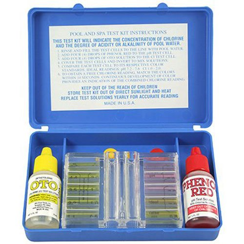 Jed Pool Tools Testing Kit Maintenance Cleaning Chemicals Dual Water Test Set