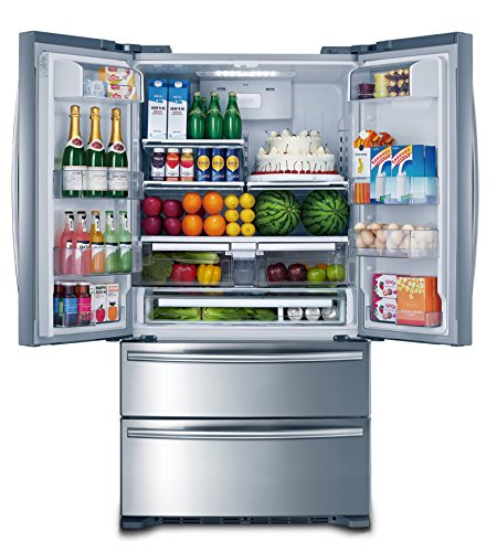 Smad 36' French Door Refrigerator 4 Doors Freezer Stainless Steel with Ice Maker, 20 Cu. Ft.