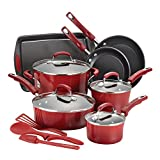 Product review for Rachael Ray 14-Piece Hard Enamel Nonstick Cookware Set, Red