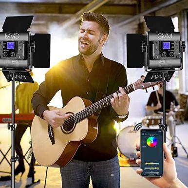 GVM-RGB-Led-Video-Light-2PCS-Video-Lighting-Kit-with-APP-Control-40W-Photography-Lighting-Led-Panel-Light-with-8-Kinds-of-The-Scene-Lights-for-Studio-YouTube-3200K-5600K-CRI-97