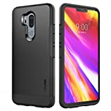 SPARIN LG G7 Case/LG G7 ThinQ Case, Dual Layer Black Tough for LG G7 ThinQ with Shock Absorbing/Scratch Proof/Precise Designed, 6.1 Inch, Black