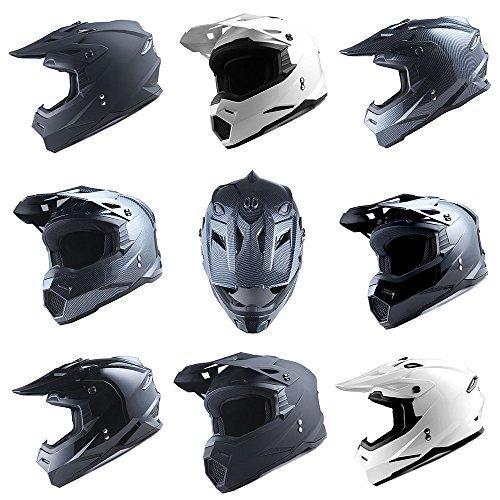 1Storm Adult Motocross Helmet BMX MX ATV Dirt Bike Helmet Racing Style HF801