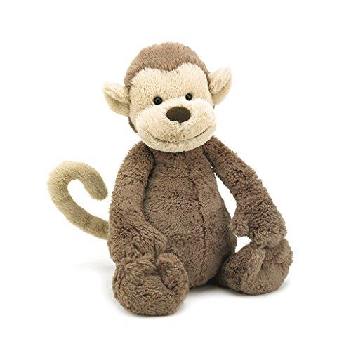 Jellycat Bashful Monkey Stuffed Animal, Medium, 12 inches