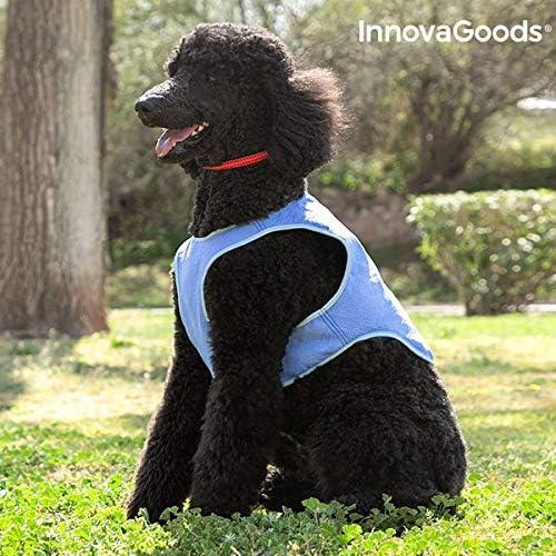 InnovaGoods IG813994 Chaleco Refrescante para Mascotas Medianas, M, Azul