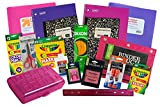 Mixed Deluxe Back to School Essentials Set 18 Item Bundle K-5 (Pink and Purple)