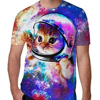 RAISEVERN Unisex Summer T-Shirts Crewneck Cool Short Sleeve Funny...