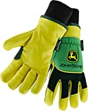 West Chester John Deere JD95040 Grain Deerskin Leather Driver Work Gloves with Thinsulate Lining: Large, 1 Pair