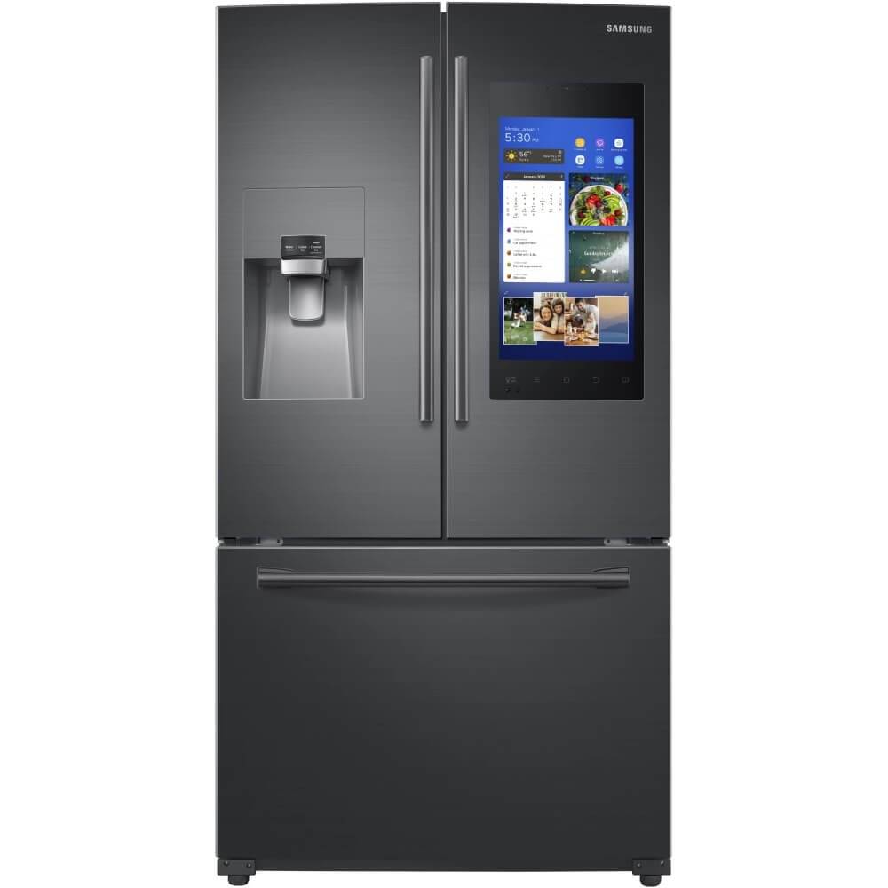 Samsung negro acero 24 Cu Ft familia Hub francés puerta nevera rf265beaesg:  Amazon.com.mx