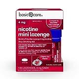 Basic Care Nicotine Mini Lozenge, Stop Smoking Aid, Nicotine Polacrilex 4 mg (Nicotine), Cherry Ice Flavor, 135Count