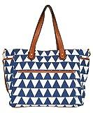 Blue Triangle Tote Bag The Libra White Elm...